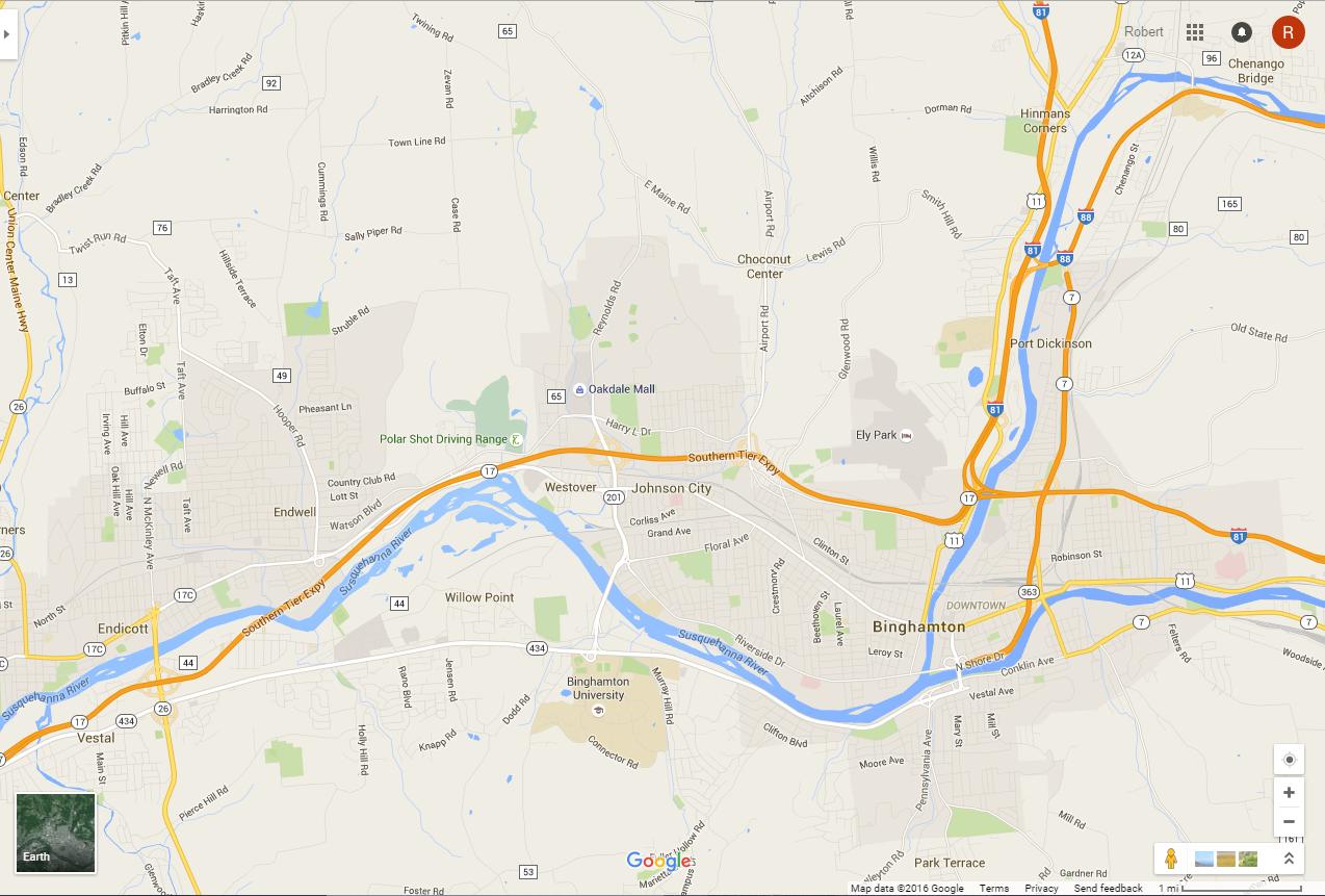 Maps | Lawn Mowing In Binghamton